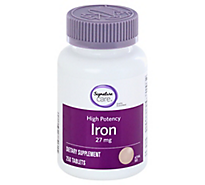 Signature Care Iron High Potency 27 mg Tablets - 250 Count