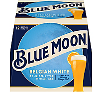 Blue Moon Beer Bottle Belgian White Ale - 12-12 Fl. Oz.
