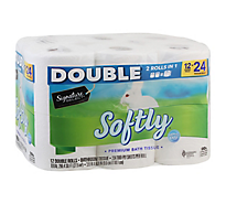 Signature Home Bathroom Tissue Softly Soft & Strong Double Roll 2-Ply - 12 Count