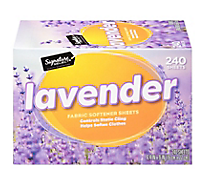Signature Home Fabric Softener Sheets Lavender - 240 Count