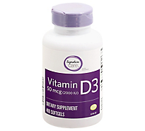 Signature Care Vitamin D3 2000 IU Softgels - 400 Count