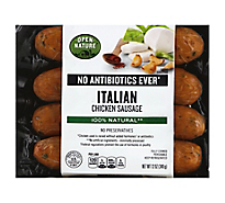 Open Nature Sausage Chicken Mild Italian - 12 Oz