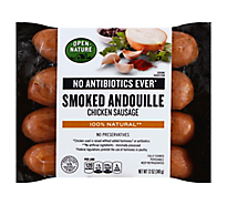 Open Nature Chicken Sausage Smoked Andouille - 12 Oz