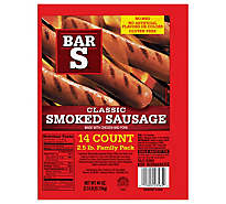Bar-S Sausage Smoked Classic Family Pack 14 Count - 40 Oz