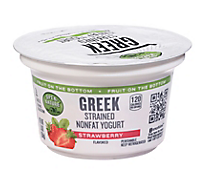 Open Nature Yogurt Greek Nonfat Strained Fruit on the Bottom Strawberry - 5.3 Oz