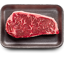 1 LB USDA Choice Beef Top Loin New York Strip Steak Boneless