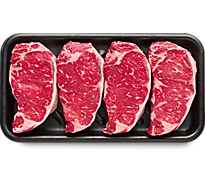3.50 LB USDA Choice Beef Top Loin New York Strip Steak Boneless Extreme Value Pack