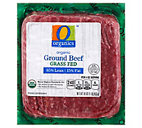 O Organics Organic Beef Ground Grass Fed 85% Lean 15% Fat - 16 Oz