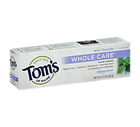 Toms Of Maine Toothpaste Whole Care Peppermint Fluoride - 4.7 Oz