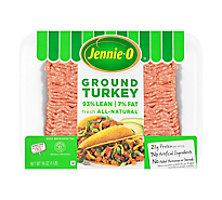 Jennie-O Turkey Ground Lean 93% Lean 7% Fat - 16 Oz