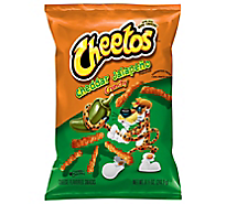 Cheetos Snacks Cheese Flavored Crunchy Cheddar Jalapeno - 8.5 Oz