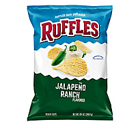 Ruffles Potato Chips Jalapeno Ranch - 8.5 Oz