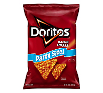 Doritos Tortilla Chips Nacho Cheese Party Size - 15 Oz