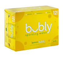 Bubly Sparkling Water Lemon Can - 12-12 Fl. Oz.