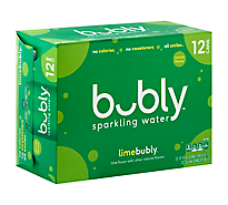 Bubly Sparkling Water Lime - 12-12 Fl. Oz.