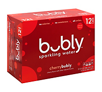 Bubly Sparkling Water Cherry - 12-12 Fl. Oz.