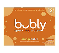 Bubly Sparkling Water Orange - 12-12 Fl. Oz.