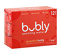 Bubly Sparkling Water Grapefruit - 12-12 Fl. Oz.