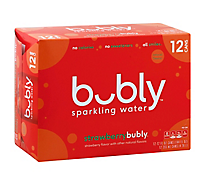 Bubly Sparkling Water Strawberry - 12-12 Fl. Oz.