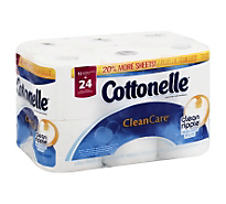 Cottonelle Clean Care Bath Tissue Double Roll - 12 Roll