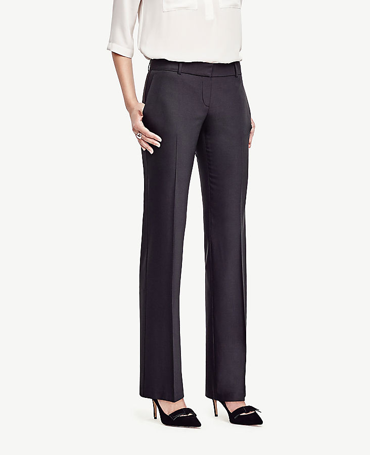 The Petite Trouser In Tropical Wool - Curvy Fit