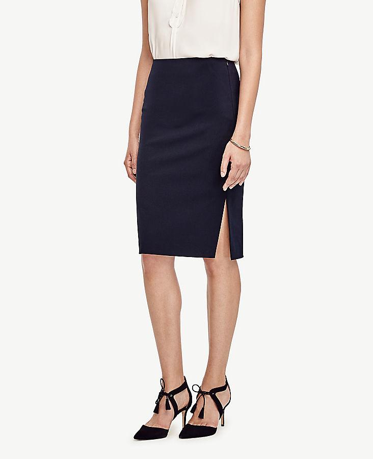 Petite Seasonless Stretch Pencil Skirt