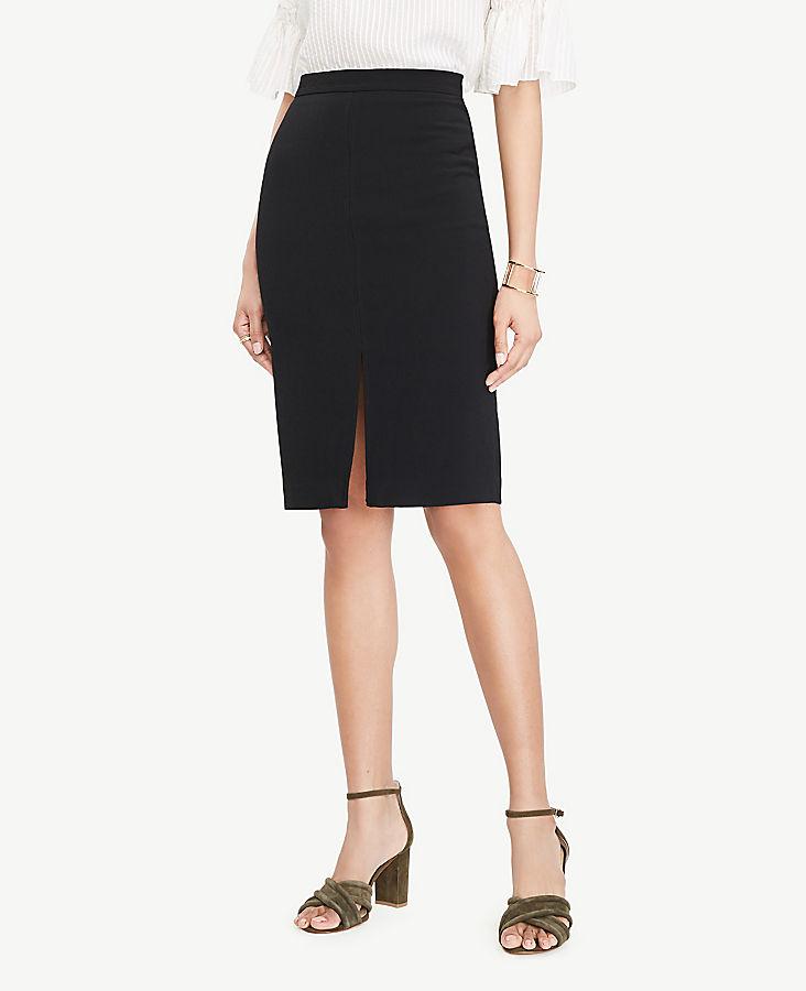 Petite Textured Slit Pencil Skirt