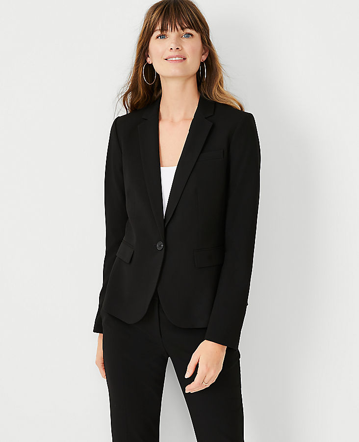 Tall Seasonless Stretch One Button Perfect Blazer | Tuggl