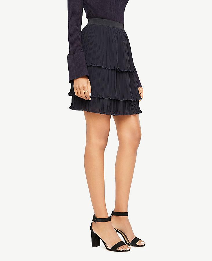 Tiered Chiffon Ruffle Skirt   Tuggl