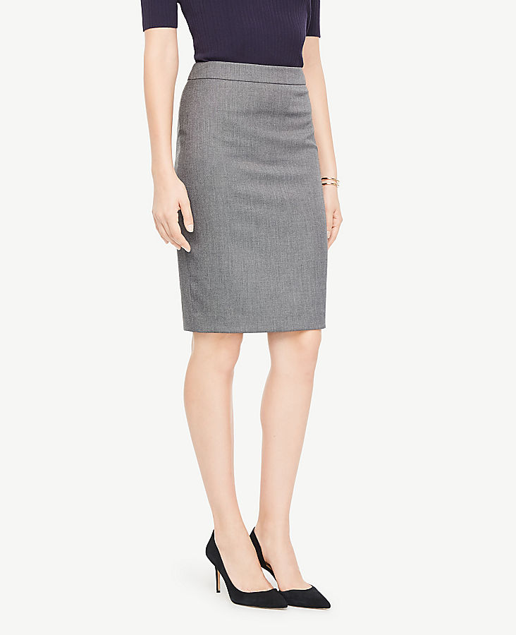 Curvy Sharkskin Pencil Skirt | Tuggl