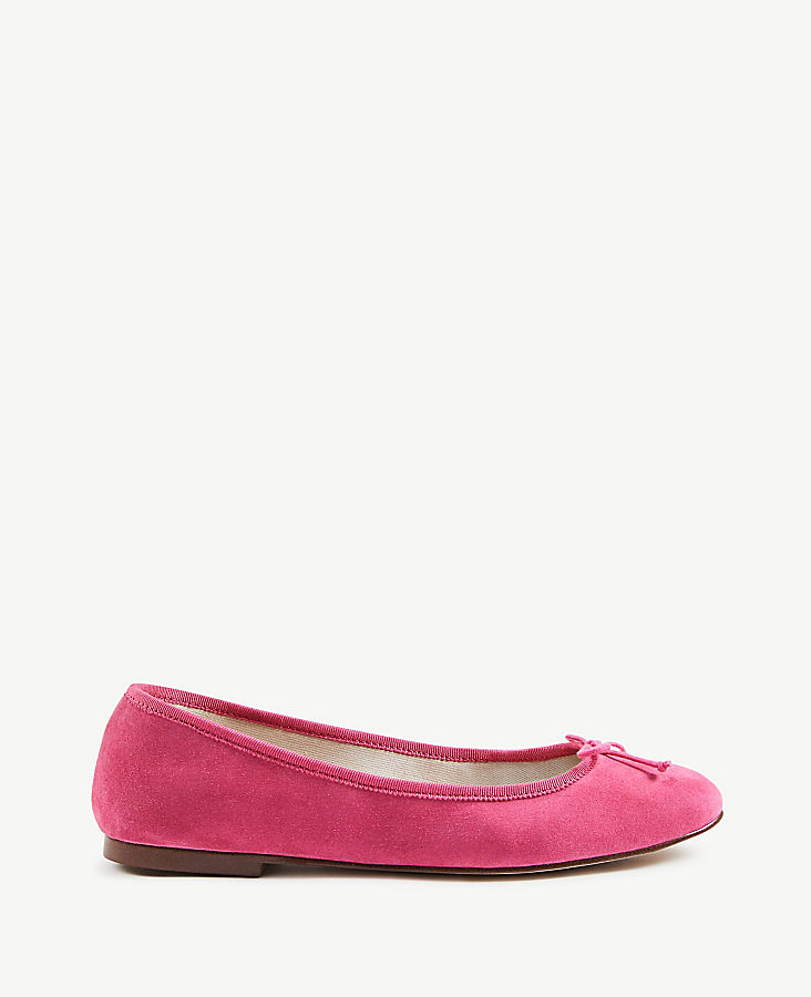 Matilde Suede Ballet Flats at Ann Taylor in Victor, NY | Tuggl