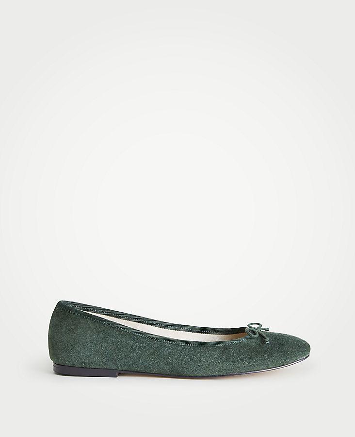 Matilde Suede Ballet Flats | Tuggl