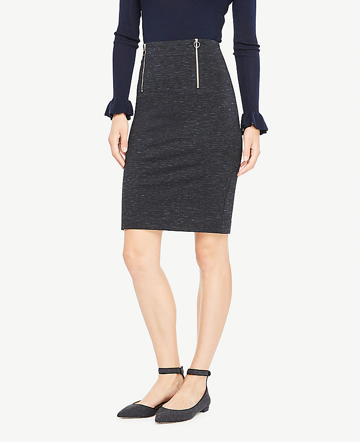 Spacedye Front Zip Pencil Skirt | Tuggl