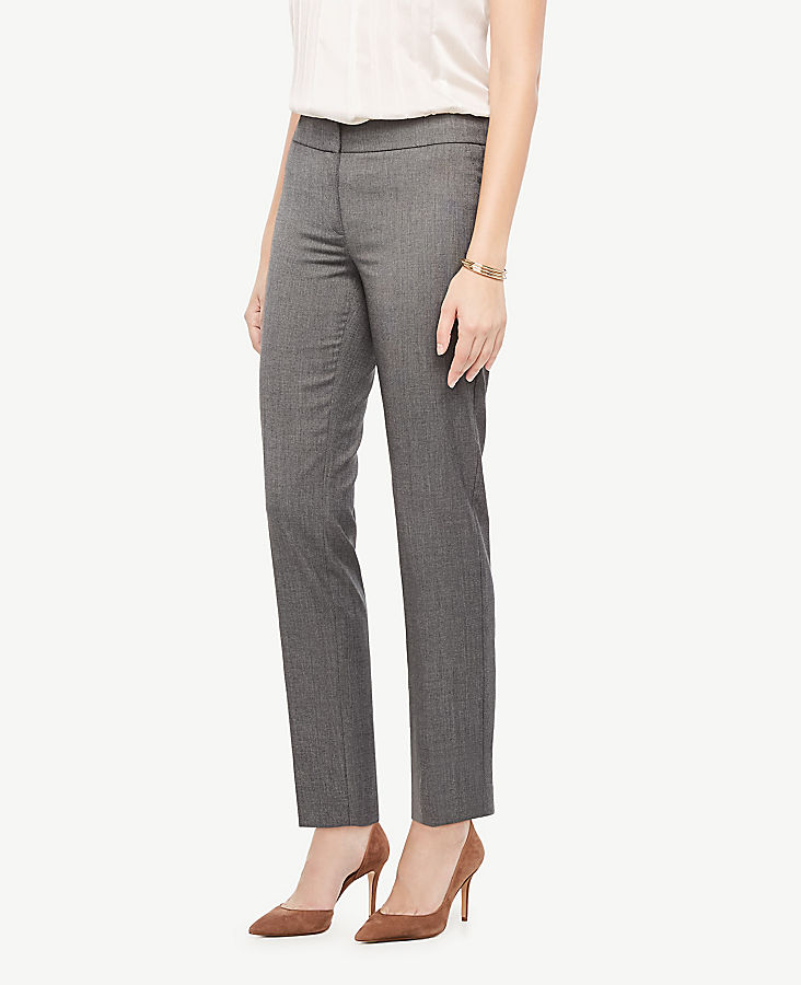 The Petite Ankle Pant In Sharkskin - Curvy Fit