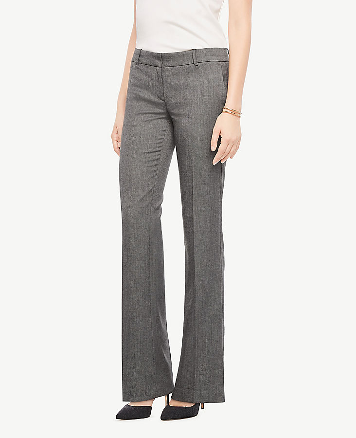The Petite Trouser In Sharkskin - Curvy Fit