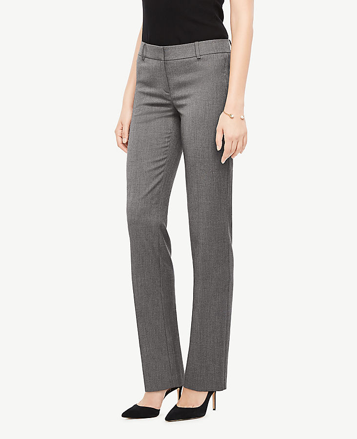 The Petite Straight Leg Pant In Sharkskin