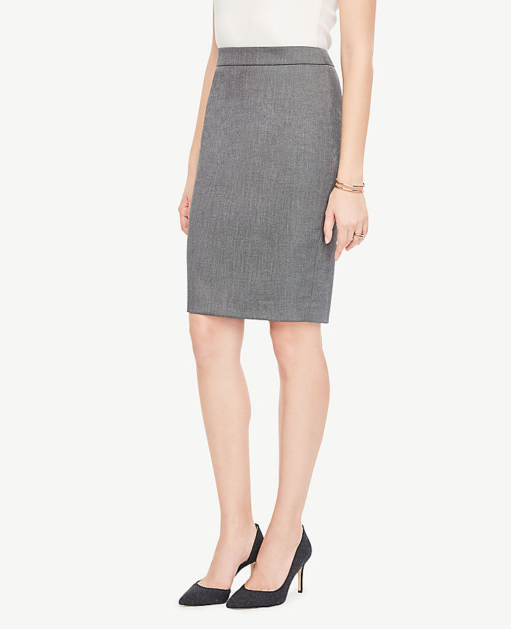 Petite Sharkskin Pencil Skirt