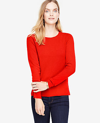 Ann Taylor Cashmere Crew Neck Sweater
