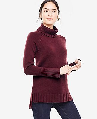 Ann Taylor Cashmere Turtleneck Tunic Sweater