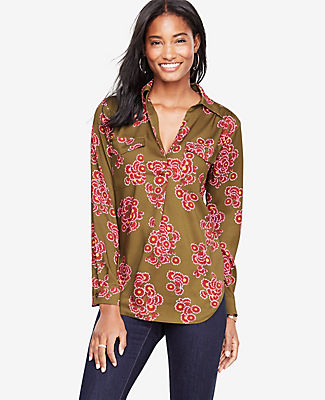 Ann Taylor Bouquet Camp Shirt