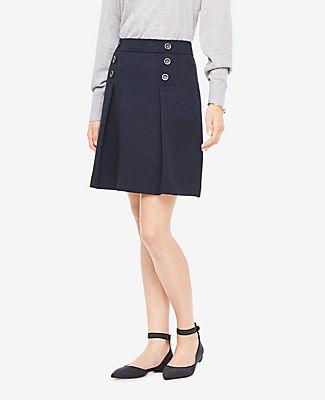 Ann Taylor Tall Tweed Button Skirt