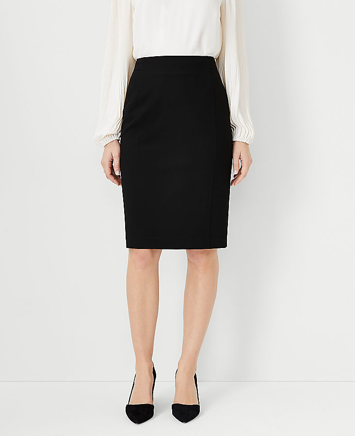 Tall Seasonless Stretch Seamed Pencil Skirt | Tuggl