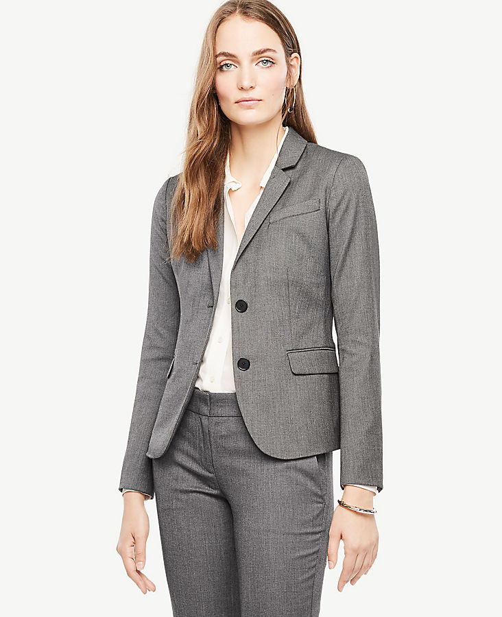 Tall Sharkskin Two Button Jacket | Tuggl