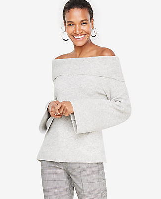 Ann Taylor Off The Shoulder Bell Sleeve Sweater 23911468