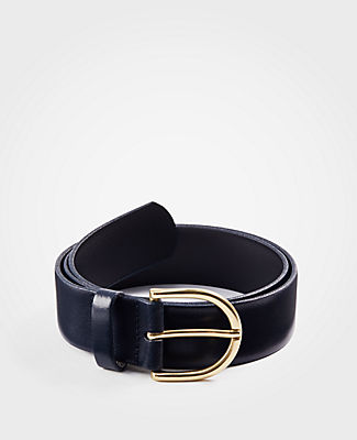 WIDE LEATHER TROUSER BELT
