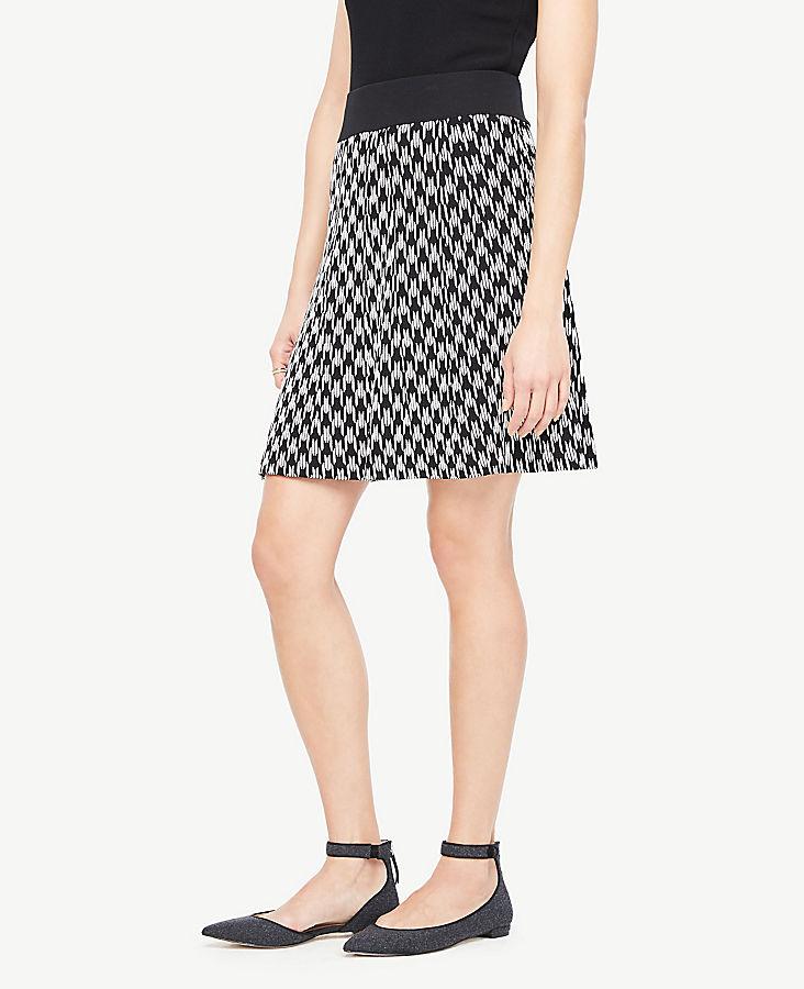 Petite Geo Jacquard Sweater Skirt