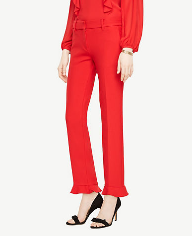 The Ankle Pant with Ruffle Cuff