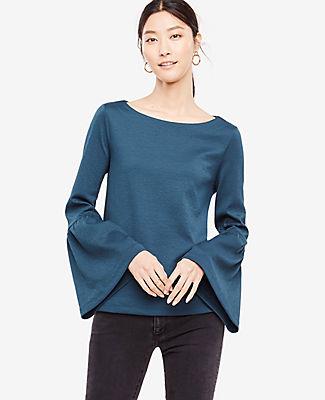 Ann Taylor Flare Sleeve Knit Top