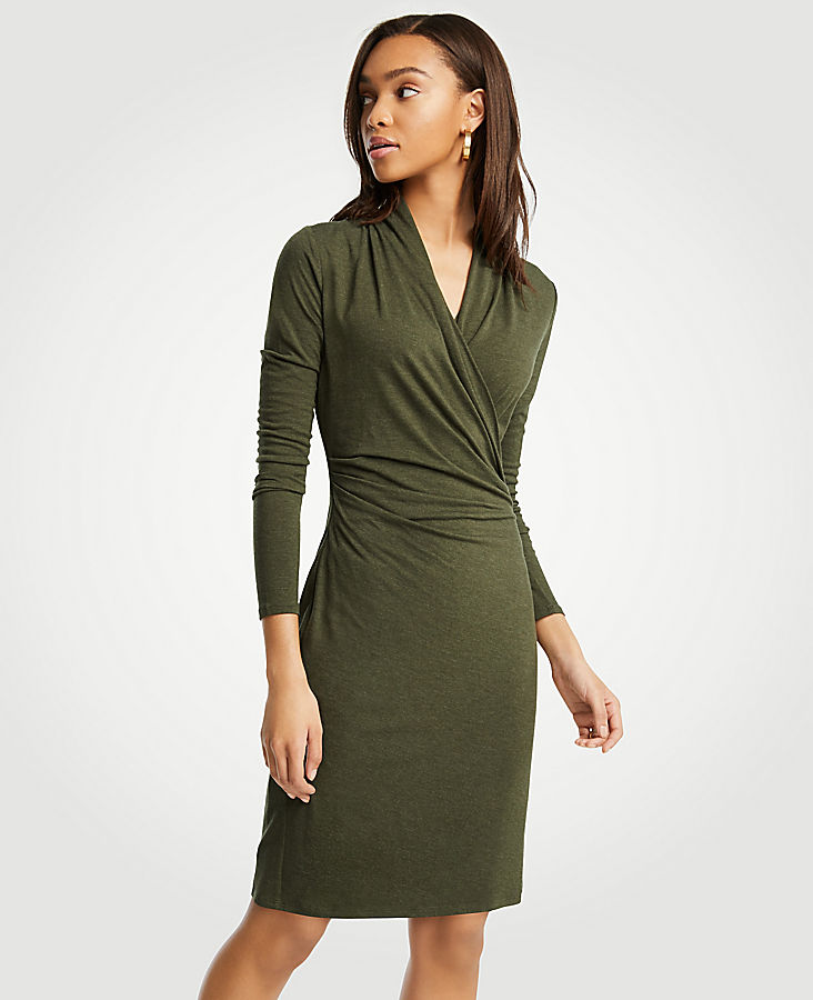 Faux Wrap Knit Dress | Tuggl
