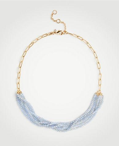 ANN TAYLOR Resin Metal Stud Necklace w5QG9QZO